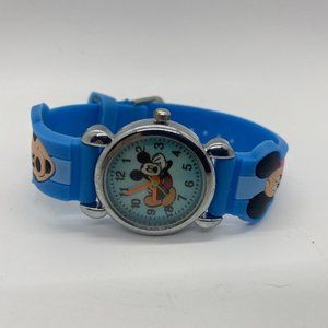 Mickey Mouse Kids Watch Blue Rubber Band Disney